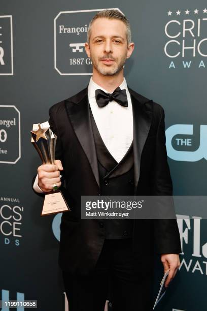 Winner of the Best Actor in a Drama Series award for 'Succession' Jeremy Strong poses in the press room during the 25th Annual Critics' Choice Awards...