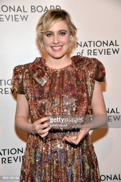 Winner of the Best Director Award Greta Gerwig poses during the National Board of Review Annual Awards Gala at Cipriani 42nd Street on January 9 2018...