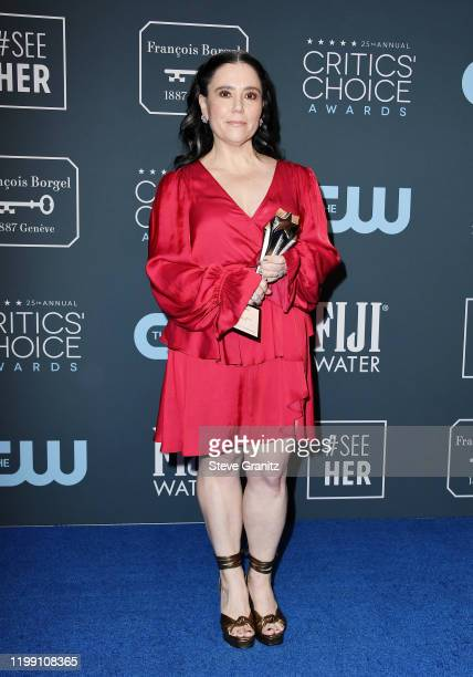 Winner of the Best Supporting Actress in a Comedy Series award for 'The Marvelous Mrs. Maisel' Alex Borstein poses in the press room during the 25th...