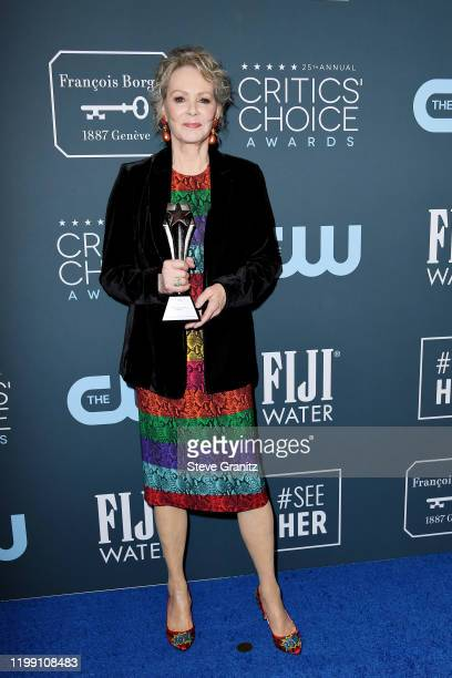 Winner of the Best Supporting Actress in a Drama Series award for 'Watchmen' Jean Smart poses in the press room during the 25th Annual Critics'...