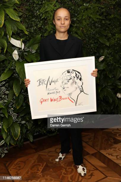 Winner of the BFC/Vogue Designer Fashion Fund Grace Wales Bonner at BFC/Vogue Designer Fashion Fund announcement lunch on May 01 2019 in London...