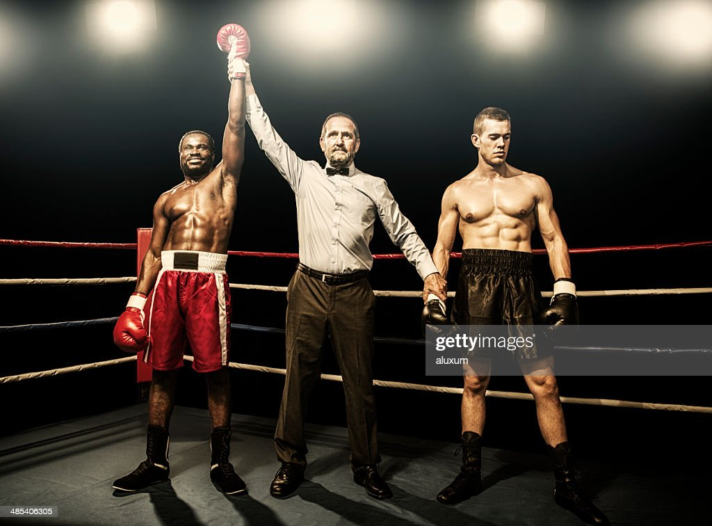 Winner of the boxing fight : Stock Photo