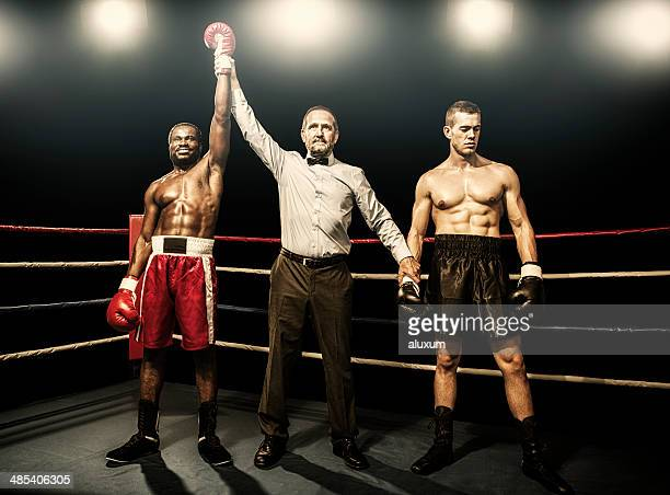 winner of the boxing fight - nederlaag stockfoto's en -beelden