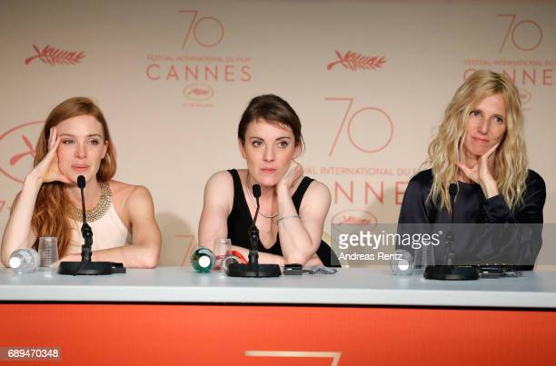 Winner of the Camera d'Or for best first film 'Jeune femme' director Leonor Serraille actress Laetitia Dosch and President of the Camera d'Or jury...