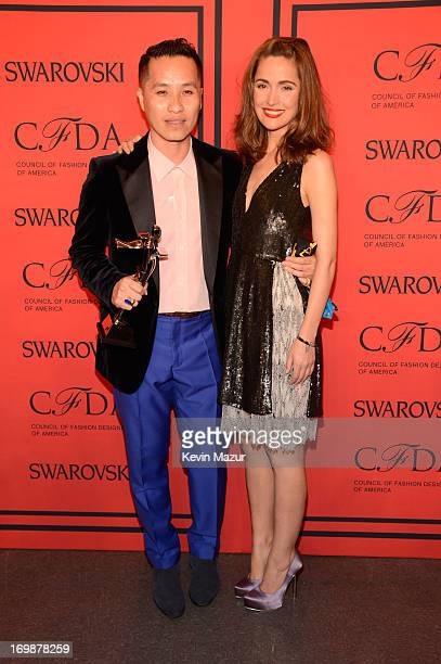 Winner of the CFDA Accessory Designer of the Year Award, Phillip Lim poses with Rose Byrne at 2013 CFDA Fashion Awards at Alice Tully Hall on June 3,...