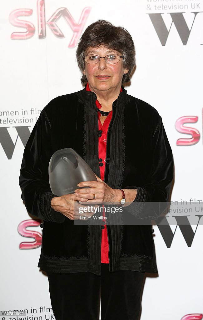 Winner of the EON Productions Lifetime Achievement Award Ruth Caleb OBE poses for a photograph in the press room at the Women in TV & Film Awards at London Hilton on December 7, 2012 in London, England.