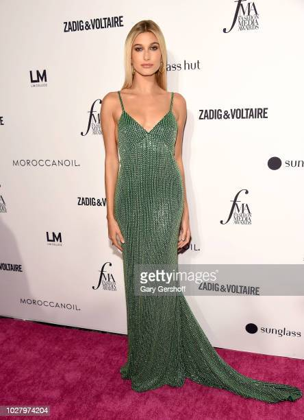 Winner of the Fashion Media Personality award Hailey Baldwin attends the Daily Front Row's 2018 Fashion Media Awards at Park Hyatt New York on...