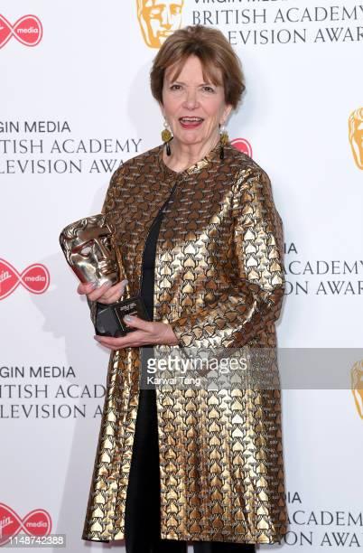 Winner of the Fellowship award Joan Bakewell poses in the Press Room at the Virgin TV BAFTA Television Award at The Royal Festival Hall on May 12...