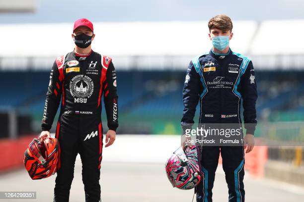 Winner of the fourth round sprint race at Silverstone, Dan Ticktum of Great Britain and DAMS and winner of the fourth round feature race Nikita...