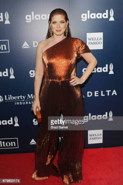 Winner of the GLAAD Excellence In Media Award Debra Messing wearing Christian Siriano attends as Ketel One Vodka sponsors the 28th Annual GLAAD Media...