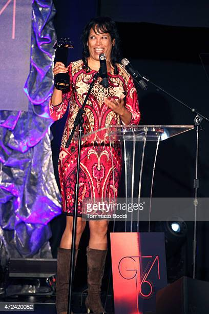 Winner of the Golden Trailer Award for Best Teaser producer Lauri Brown on stage during the 16th annual Golden Trailer Awards held at Saban Theatre...