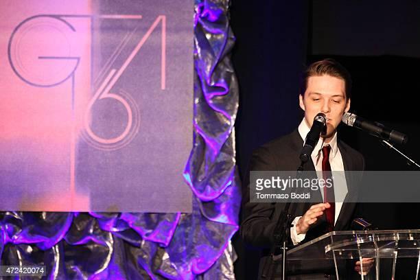 Winner of the Golden Trailer Award for Trashiest Trailer editor Travis Littlefield on stage during the 16th annual Golden Trailer Awards held at...