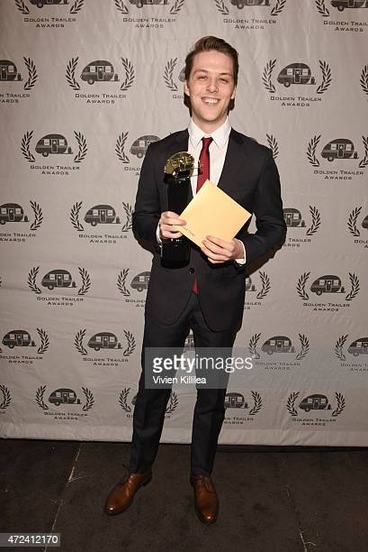 Winner of the Golden Trailer Award for Trashiest Trailer editor Travis Littlefield attends the 16th Annual Golden Trailer Awards at Saban Theatre on...
