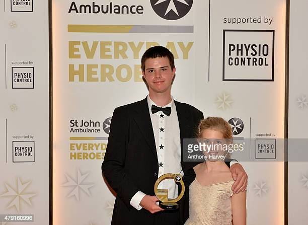 Winner of the Guy Evans Young Hero Award Max Willson poses as he attends the St John Ambulance's Everyday Heroes Awards a starstudded celebration of...