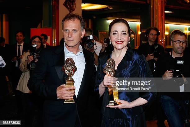 Winner of the 'Moliere de la comedienne dans un spectacle de Theatre public' for 'Les Liansons Dangereuses' actress Dominique Blanc and Winner of...