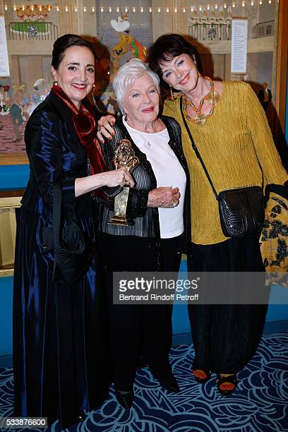 Winner of the Moliere de la comedienne dans un spectacle de Theatre public for Les Liansons Dangereuses actress Dominique Blanc Line Renaud and Anny...