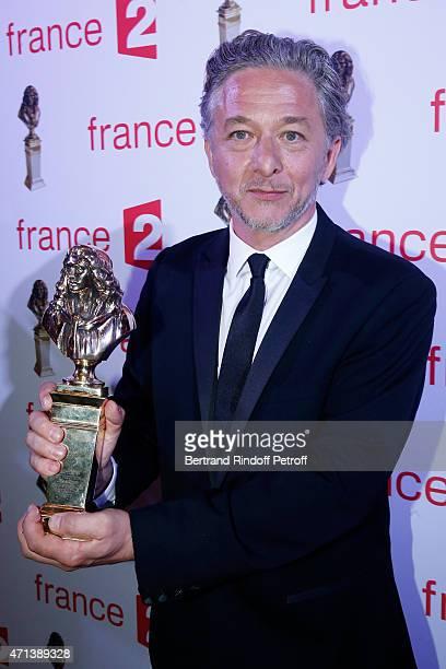 Winner of the 'Moliere du Metteur en Scene d'un spectacle de Theatre Prive' with 'Voyages avec ma tante' Nicolas Briancon attends the 27th 'Nuit Des...