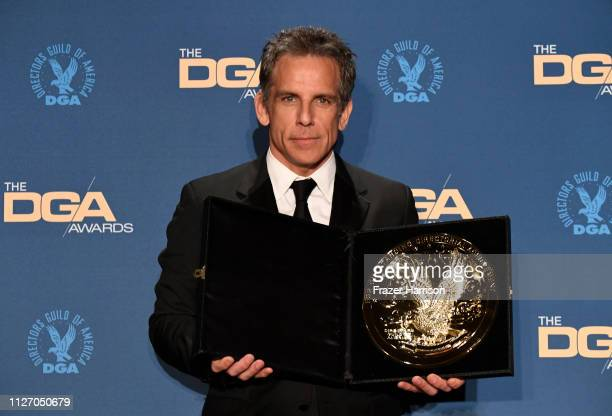 Winner of the Movies for Television and Limited Series Award for Escape at Dannemora Ben Stiller poses in the press room during the 71st Annual...