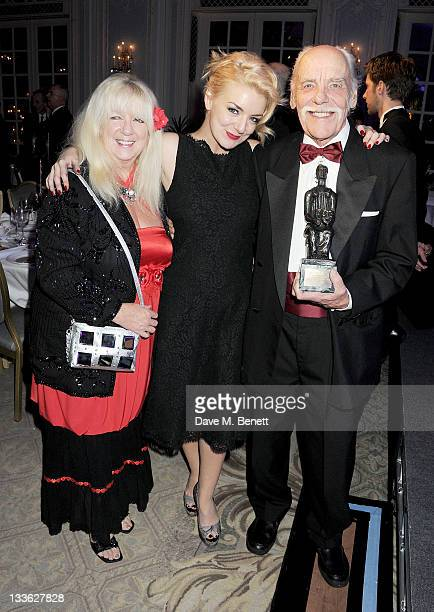 Winner of the Natasha Richardson Award for Best Actress Sheridan Smith and parents Marilyn and Colin attend an after party following the 57th Evening...