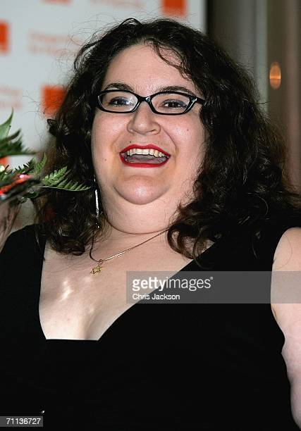 Winner of the New Writer Award Naomi Alderman smiiles after winning the award for her book Disobediencel at the Orange Prize For Fiction at Royal...