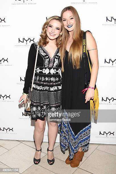 Winner of the NYX Face Awards Erin Timony and Elsa Ray attend the World's 1st NYX store grand opening VIP preview party held at the Westfield Santa...
