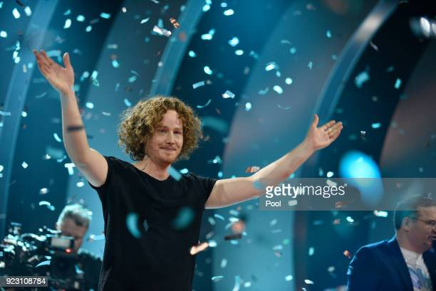 Winner of the preliminary Michael Schulte during the 'Eurovision Song Contest 2018 Unser Lied fuer Lissabon' show on February 22 2018 in Berlin...