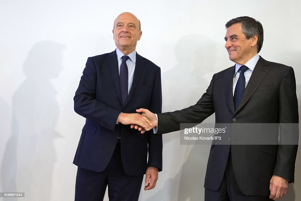 Alain Juppe Concedes To Francois Fillon In Right-Wing Primary Elections : News Photo