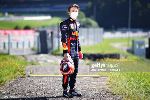 Winner of the Round 1 sprint race Liam Lawson of New Zealand and Hitech Grand Prix poses for a photo during previews for the Formula 3 Championship...