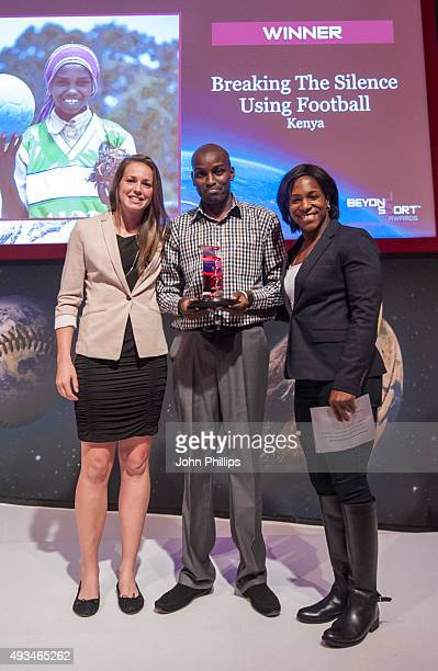 Winner of the Sport for Social Inclusion award Noor Conibear presented by Emily Scarrett and Maggie Alphonsi during the Beyond Sport Awards supported...