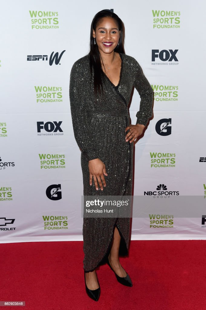 Winner of the Sportswoman of the Year in a team sport, Maya Moore, attends The Women's Sports Foundation's 38th Annual Salute To Women in Sports Awards Gala on October 18, 2017 in New York City.