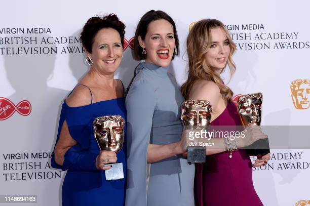 Winner of the Supporting Actress award for 'Killing Eve' Fiona Shaw winner of the award for Drama Series for 'Killing Eve' Phoebe WallerBridge and...