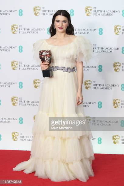 Winner of the Supporting Actress award, Rachel Weisz poses in the press room during the EE British Academy Film Awards at Royal Albert Hall on...