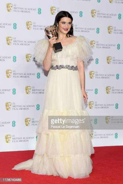 Winner of the Supporting Actress award Rachel Weisz poses in the press room during the EE British Academy Film Awards at Royal Albert Hall on...