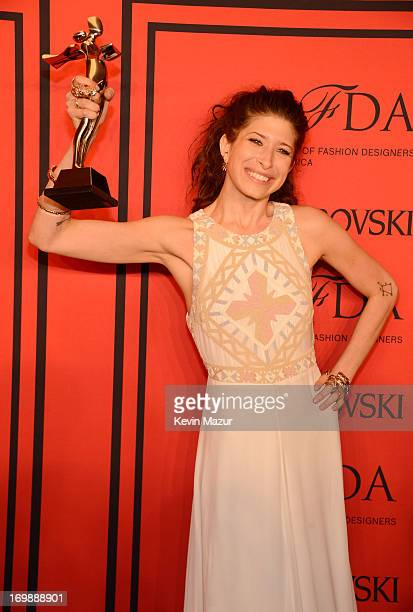 Winner of the Swarovski Accessories Designer of the Year Pamela Love attends the 2013 CFDA Fashion Awards at Alice Tully Hall on June 3 2013 in New...