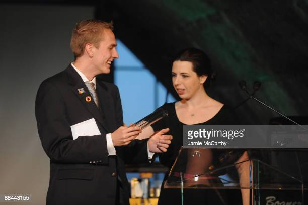 Winner of the The Jerry Greenspan Student Voice of Mental Health Award Adam Taylor and actress Heather Matarazzo attend the 8th Annual Jed Foundation...
