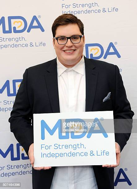 Winner of 'The Voice' Season 9 Jordan Smith attends the Muscular Dystrophy Association Funding Announcement at Carnegie Hall on January 29 2016 in...