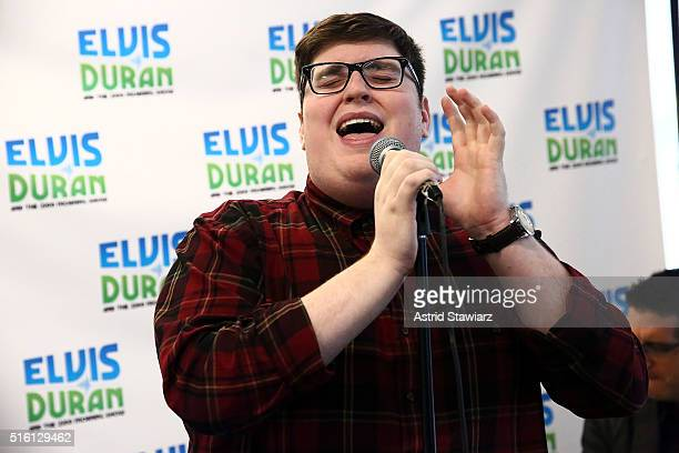 Winner of 'The Voice Season 9' Jordan Smith performs at 'The Elvis Duran Z100 Morning Show' at Z100 Studios on March 17 2016 in New York City