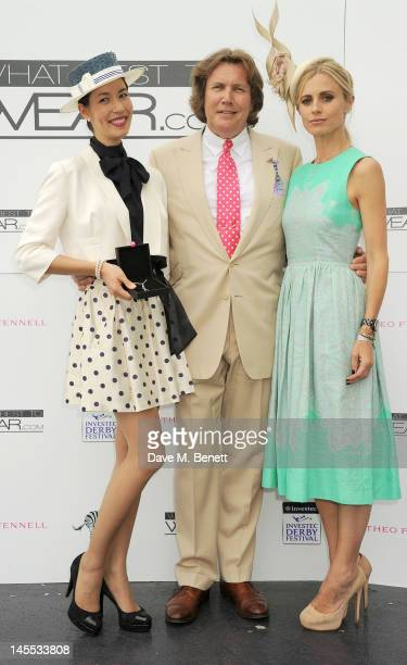 Winner of the 'What's Best To Wear.com' competiton for best dressed Lisa Tan, jeweller Theo Fennell and this year's face of the Investec Derby...