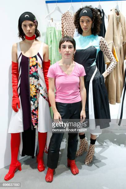 """Winner of the """"Young Fashion Designer"""" LVMH Prize 2017, Stylist Marine Serre attends the """"Young Fashion Designer"""" : LVMH Prize 2017 Edition at..."""