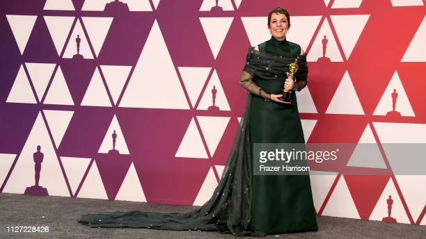 Winner Olivia Colman with the Best actress award for the film 'The Favourite' in the press room during the 91st Annual Academy Awards at Hollywood...