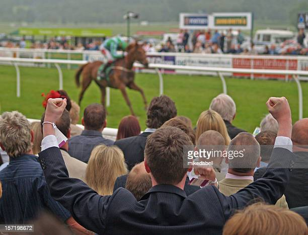winner - horse racing stock pictures, royalty-free photos & images