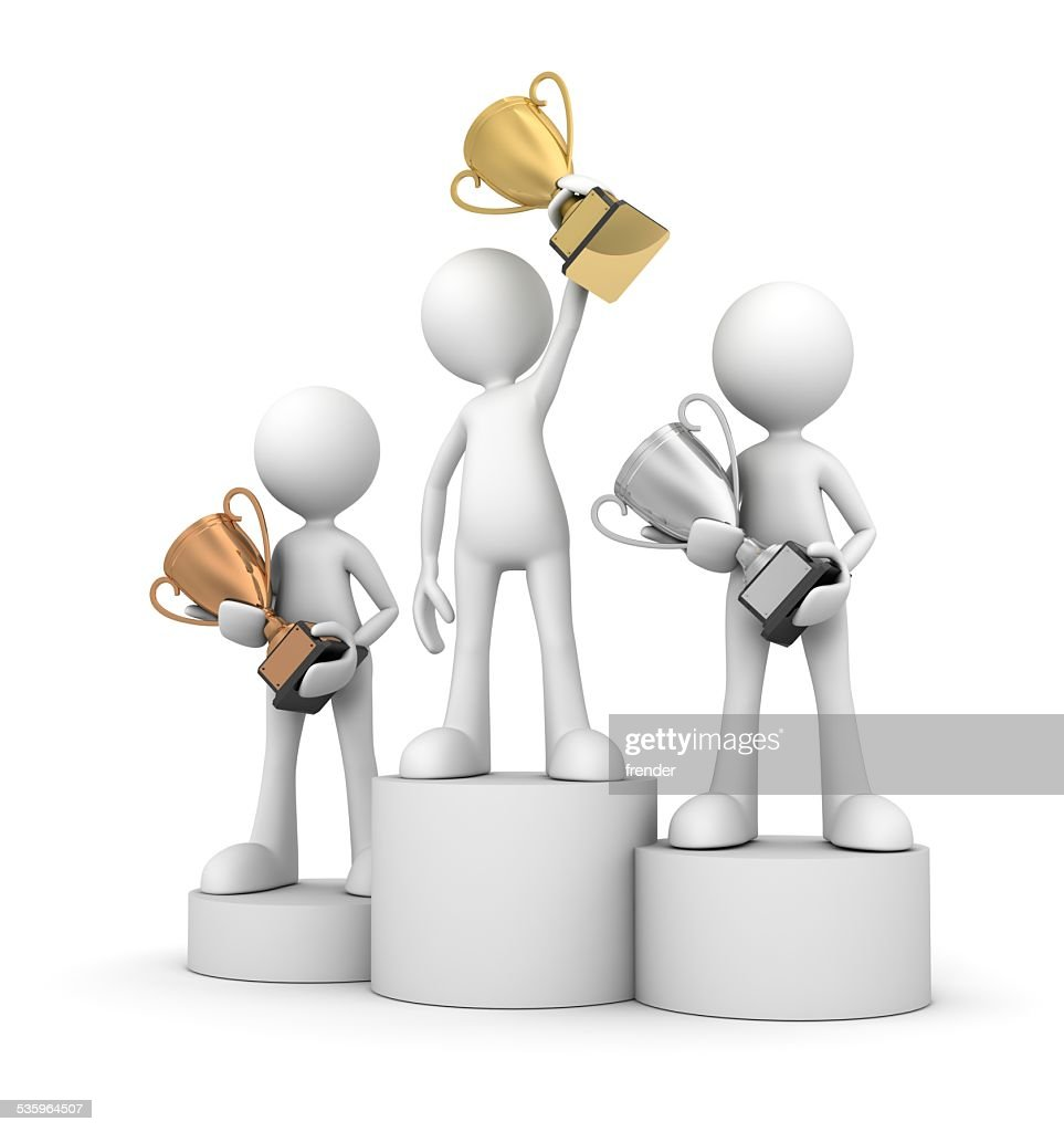 winner podium : Stock Photo