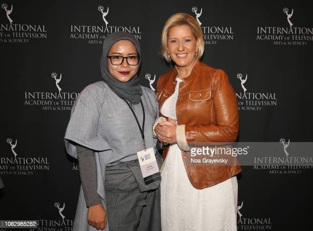 Winner Puti Puar and Her Excellency Lorena Castillo De Varela First Lady of the Republic of Panama attend the Young Creatives Awards Ceremony on...