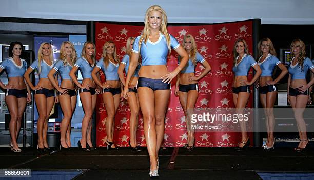 Winner Rachel Burr poses during the 'Face of Origin' competition at Star City on June 24 2009 in Sydney Australia
