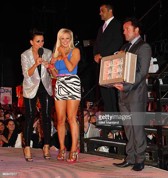 Winner Sophie Reade leaves the house at the Big Brother 10 Final at Elstree Studios on September 4 2009 in Borehamwood England