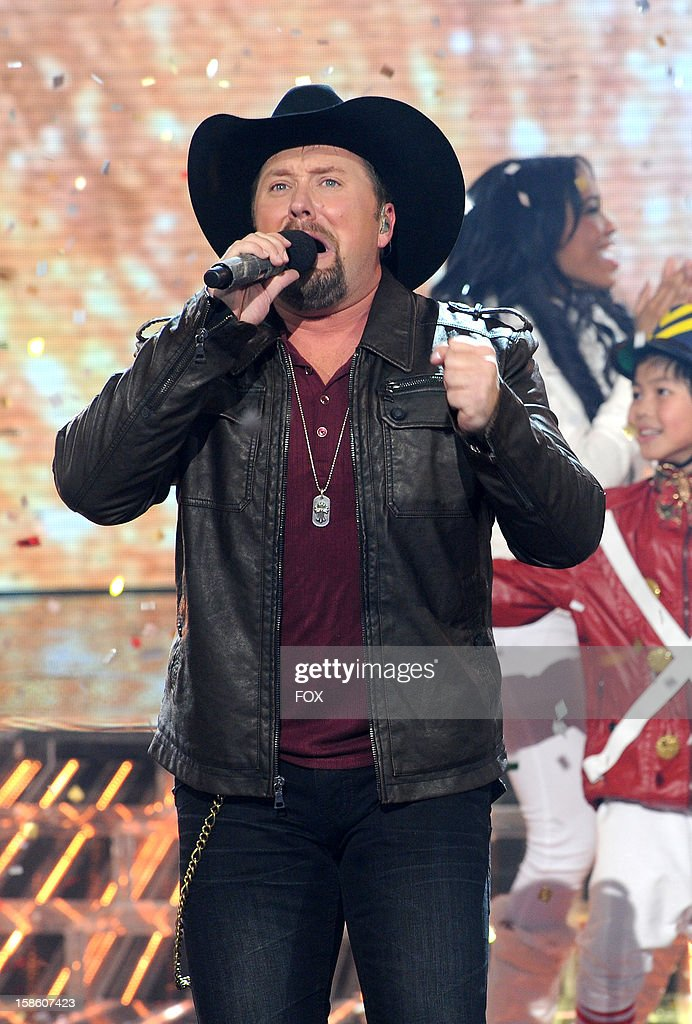 Winner Tate Stevens performs during FOX's 'The X Factor' Season 2 Finale (8:00-9:00PM ET/PT) on FOX on December 20, 2012 in Hollywood, California.