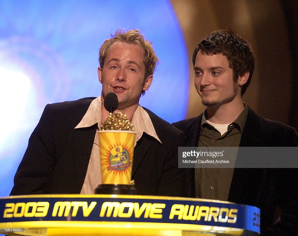 Winner the 'Lord of the Rings: The Two Towers' for Best Movie stars Billy Boyd and Elijah Wood