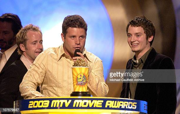 Winner the 'Lord of the Rings The Two Towers' for Best Movie stars Sean Astin Elijah Wood and Billy Boyd
