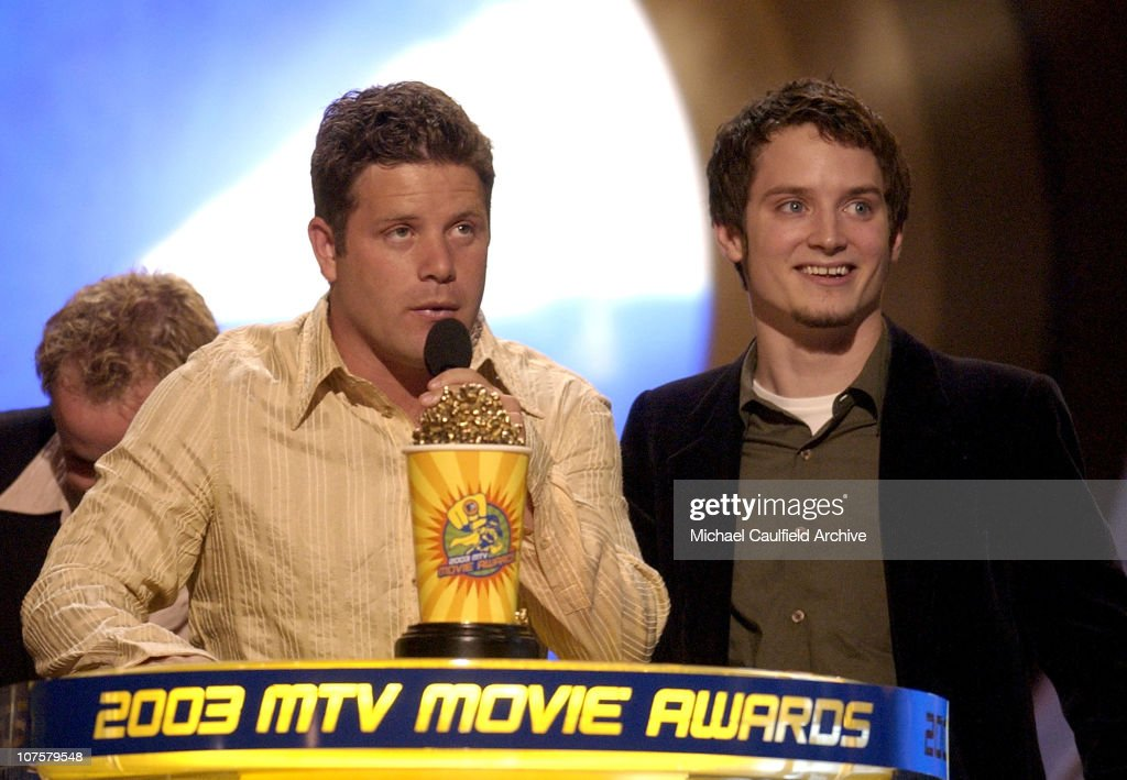 Winner the 'Lord of the Rings: The Two Towers' for Best Movie stars Sean Astin, Elijah Wood and Billy Boyd
