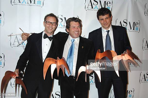 Winners Adam Moss Jann Wenner and David Remnick